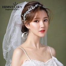 Женская свадебная повязка на голову с кристаллами