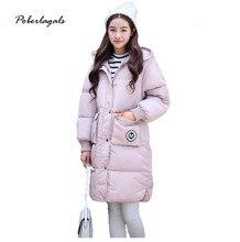 Новый Горячая Зима пальто женщин Мода 2016 Женщины Куртка Долго хлопок Вниз Пальто Куртка Снег Пальто Плюс Размер Толстая женщина куртка