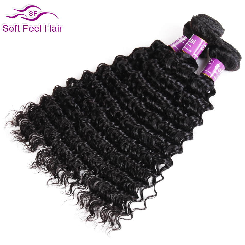 Soft Feel Hair Malaysian Deep Wave Bundles Remy Hair Weave 3 Bundles Human Hair Extensions Natural Color 3 Pcs/lot 8-28 Inches