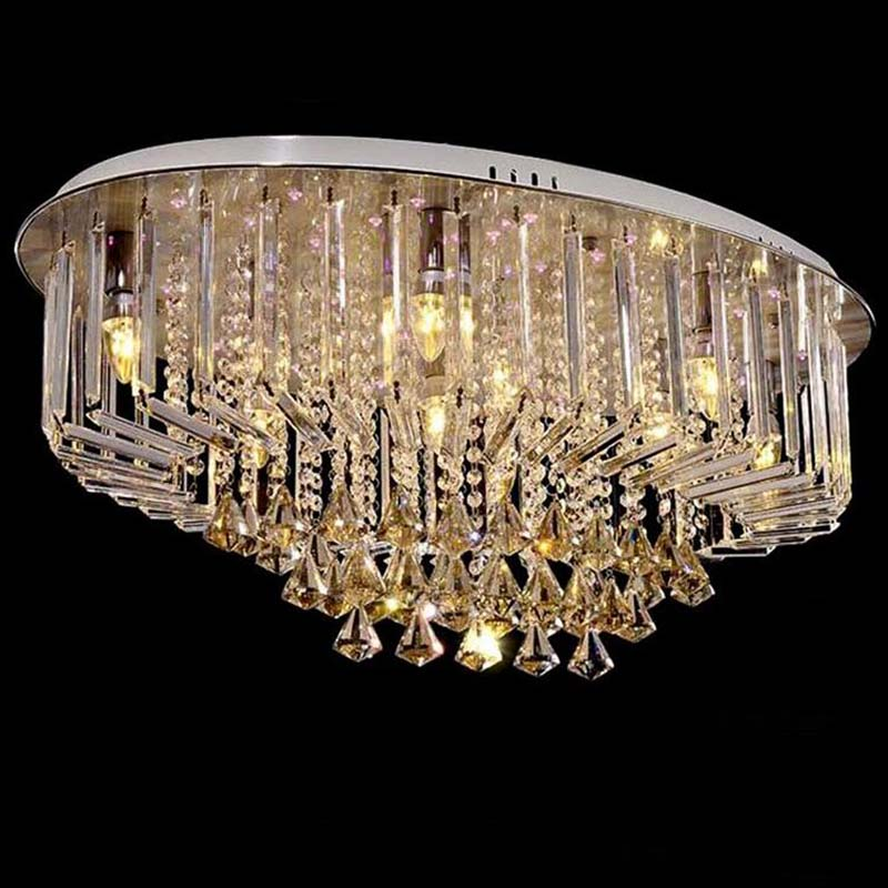 Led oval ceiling lamp crystal modern style for living room dining room lightingLed oval ceiling lamp crystal modern style for living room dining room lighting