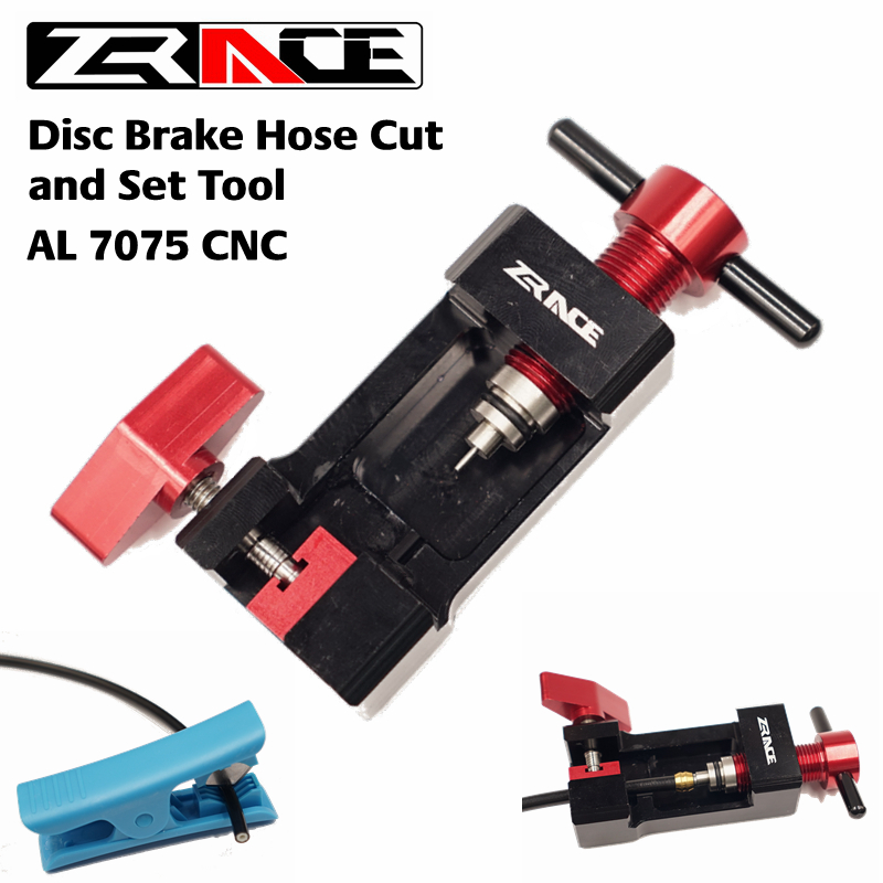 ZRACE Disc Brake Hose Cut and Set Tool, Hose Cutting & Insert & Olive & Connector Insert Tool go-kart