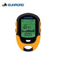 Relógio SUNROAD Mini Portátil Outdoor Camping Caminhadas IPX4 À Prova D' Água Relógio Digital LCD Bússola Altímetro Barômetro Para A Pesca