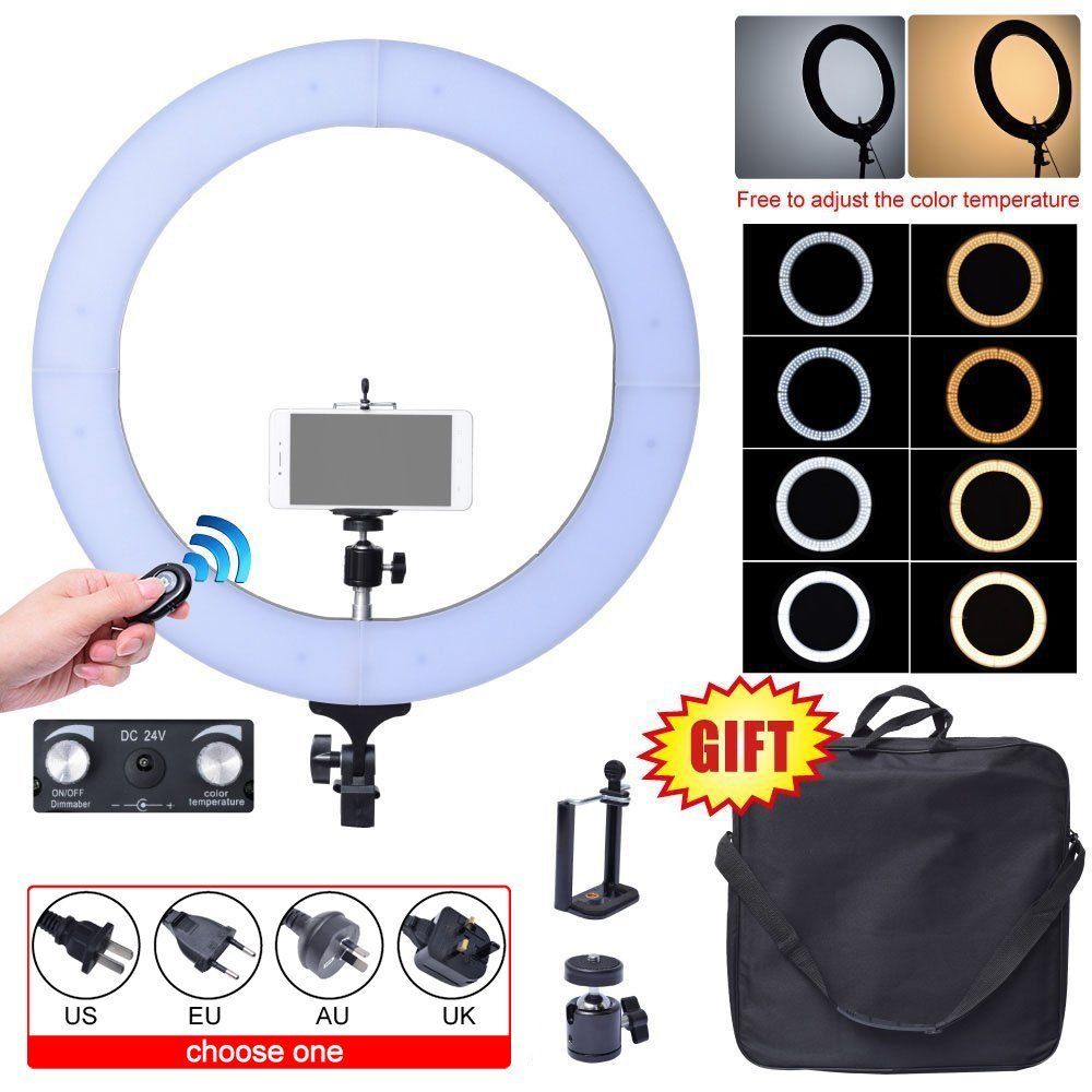 Здесь продается  Fotoconic 80W 48cm 2700K~5500K 448 LED Dimmable Ring Light Kit with Bluetooth Remote Shutter for Photography Video Photo Selfie  Бытовая электроника