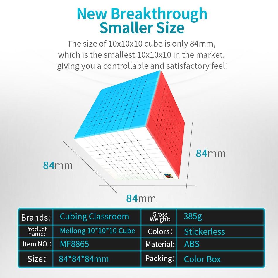Moyu 10x10 CUBE Moyu Meilong 10x10x10 Cube magique 10 couches vitesse Cube professionnel Puzzle jouets pour enfants enfants cadeau jouet - 2