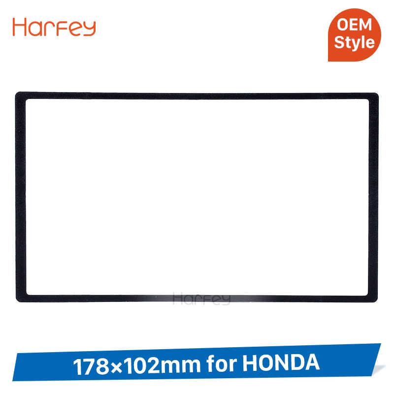 Harfey 2 Din 178*102mm uniwersalne radio samochodowe konsola dla HONDA Civic CR-V H-RV Odssey Prelude CD Trim montaż rama panelu