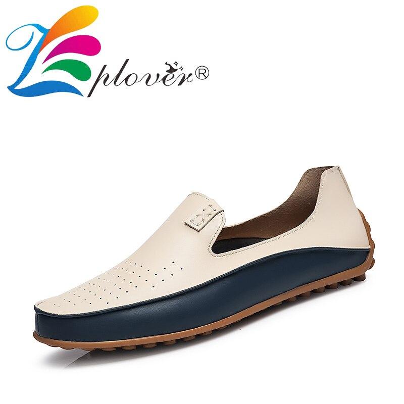 Les Trous D'été Sur Respirant Cuir Doux Glissement bleu Conduite Chaussures Style Beige Classique En Appartements Occasionnels Hommes Mocassins w6qnHd5A