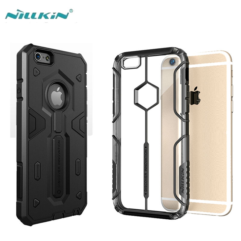 Galleria fotografica For iPhone 6 iPhone 6 Plus Case Cover Nillkin Defender 2 Luxury TPU+PC Strong Hybrid Phone Capa Cases For Apple iPhone 6S Plus
