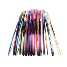 10/30 Colors Mixed Glitter Nail Art Striping Tape Line DIY Manicure Decoration