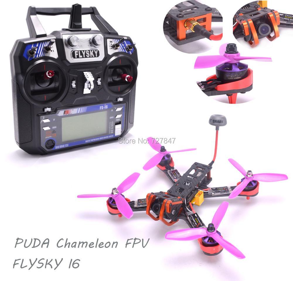 NEW Chameleon 220 220mm FPV Frame Quadcopter Kit 2205 2300kv Motor Littlebee 30A BLHeli-s ESC Flysky I6 For PUDA RC FPV Drone