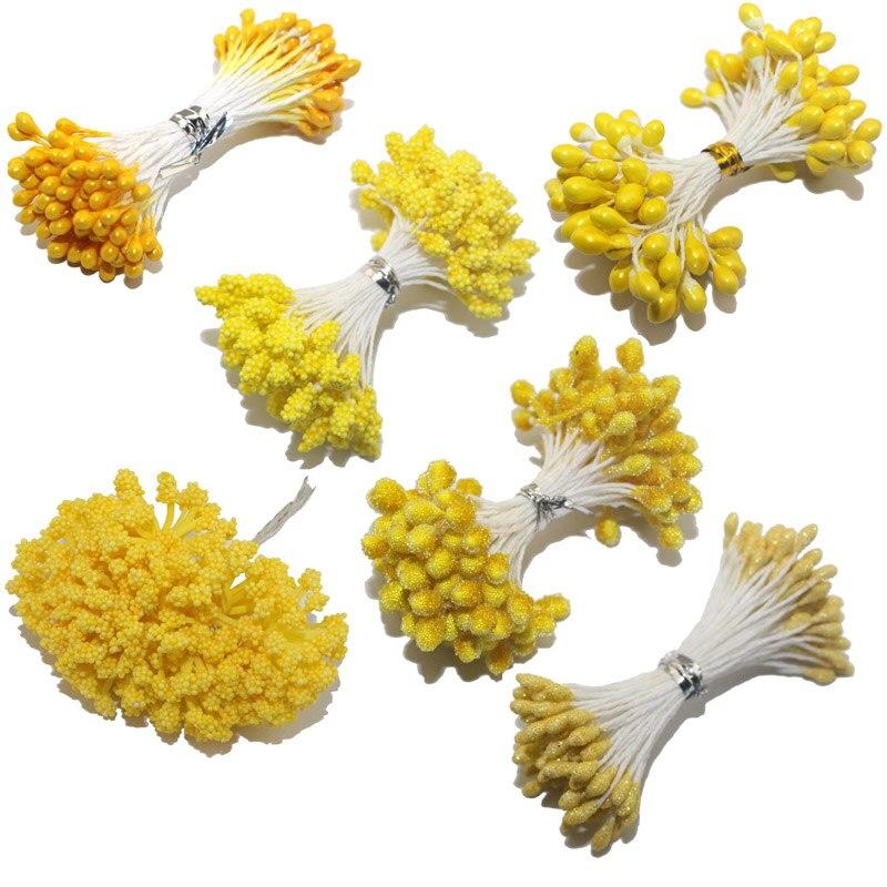 CCINEE желтый цвет цветок тычинки розы 1 мм/3 мм/5 мм для украшения торта/ремесла/нейлон цветок DIY подарок интимные аксессуары