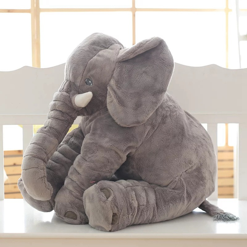 Cartoon 60cm Large Plush Elephant Toy Kids Sleeping Back Cushion stuffed Pillow Elephant Doll Baby Doll Birthday Gift for Kids large watermelon style plush toy pillow doll home cushion birthday day gift