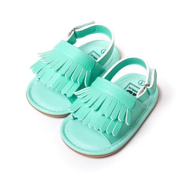 Детские впервые уокер обувь дети Bebes малыша обувь для девочек новорожденного летняя кисточкой детские мокасины non-slip