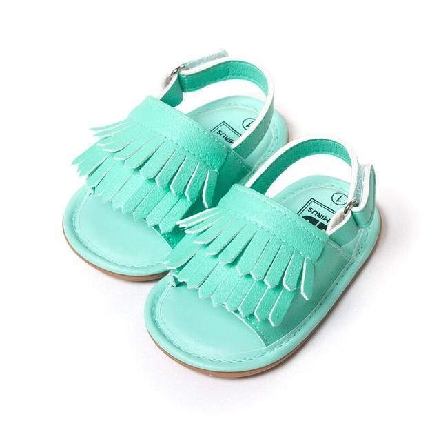 Baby First Walker Shoes   Kids Bebes Toddler Girls  Shoes  Newborn infant Summer Tassel  Leather  Baby Moccasins Non-slip