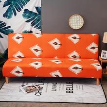 Ohne Armlehne Falten Sofa Abdeckung All-inclusive Couch Fall Engen Wrap Elastische Schonbezug Pflanzen Druck