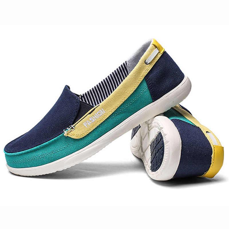 รองเท้าสตรีรองเท้าผ้าใบรองเท้าผู้หญิง Loafers ผู้หญิงรองเท้าผสมสีรองเท้า Slip บนหญิงฤดูใบไม้ผลิฤดูร้อนรองเท้าผู้หญิงรองเท้าหนังนิ่ม
