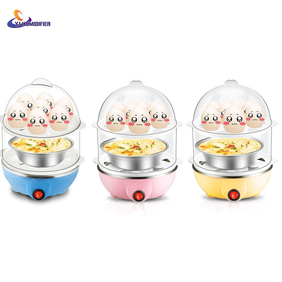 YJ HUMIDIFIER Multi Function Rapid Electric Egg Cooker 14pcs Eggs Capacity Fast Egg Boiler Steamer cukyi double layer multi function electric egg cooker boiler stainless steel automatic power off mini