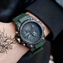 2019 Top Luxury Brand Men Military Sports Watches Men's Quartz Clock Man Casual Wrist Watch Waterproof Cool Boys Clock Black