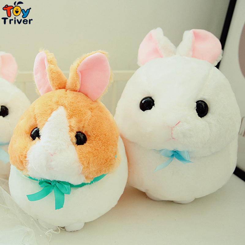 Cute Plush Japan Long Ear Rabbit Bunny Fat Round Ball Toy Stuffed