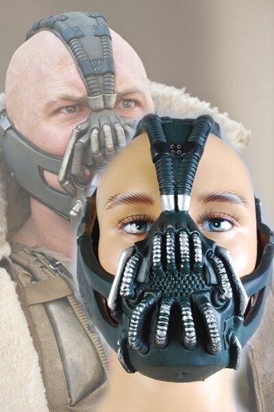 Batman: The Dark Knight Rises Bane Dorrance Máscara Homens Adultos Cosplay Prop Traje Capacete
