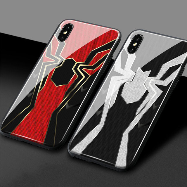the best attitude 6aeb3 180a0 US $4.99 |Iron Spider man Infinity War Tempered Glass Soft Silicone Phone  Case Shell Cover For Apple iPhone 6 6s 7 8 Plus X XR XS MAX-in Fitted Cases  ...