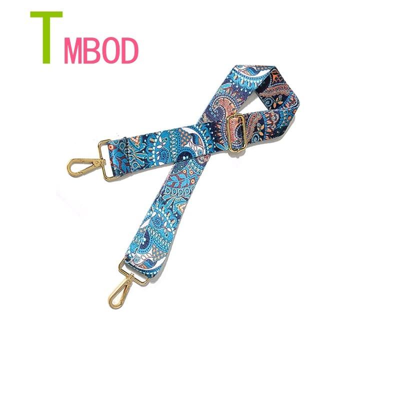 2018 New handbags strap woven design national gold buckle canvas bag straps new trendy easy holding shoulder straps Q005