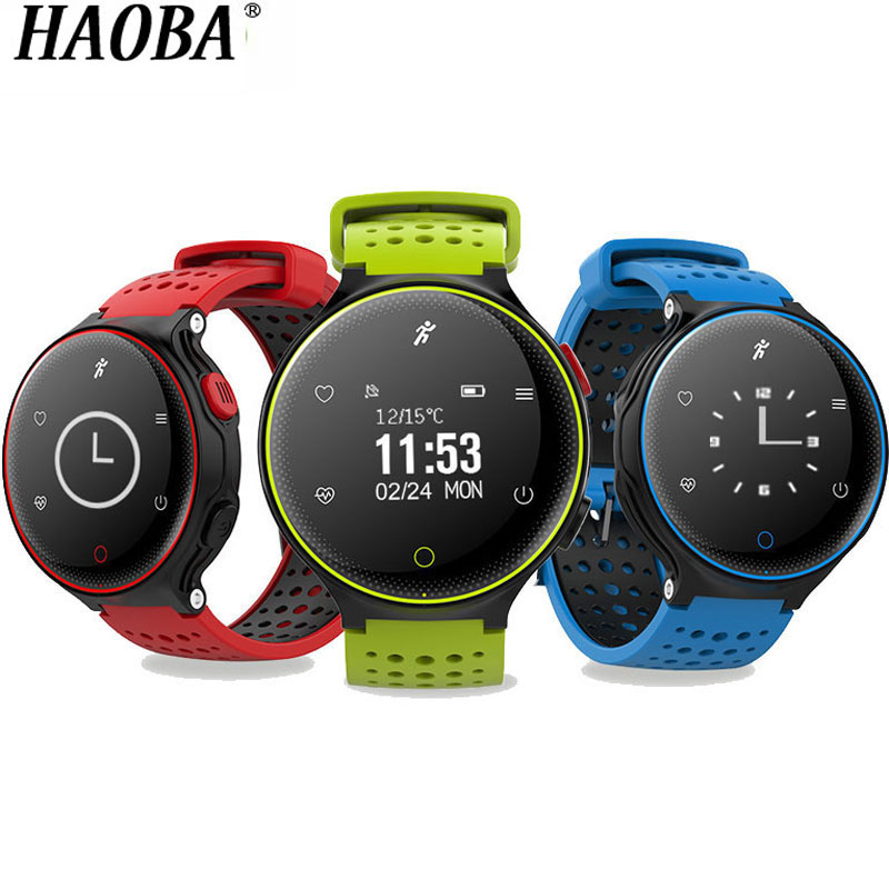 HAOBA Smart Watch On Wrist Smartwatch Heart Rate Bluetooth Blood Pressure Sleep Monitor Fitness Tracker For Android IOS xiaomi цена