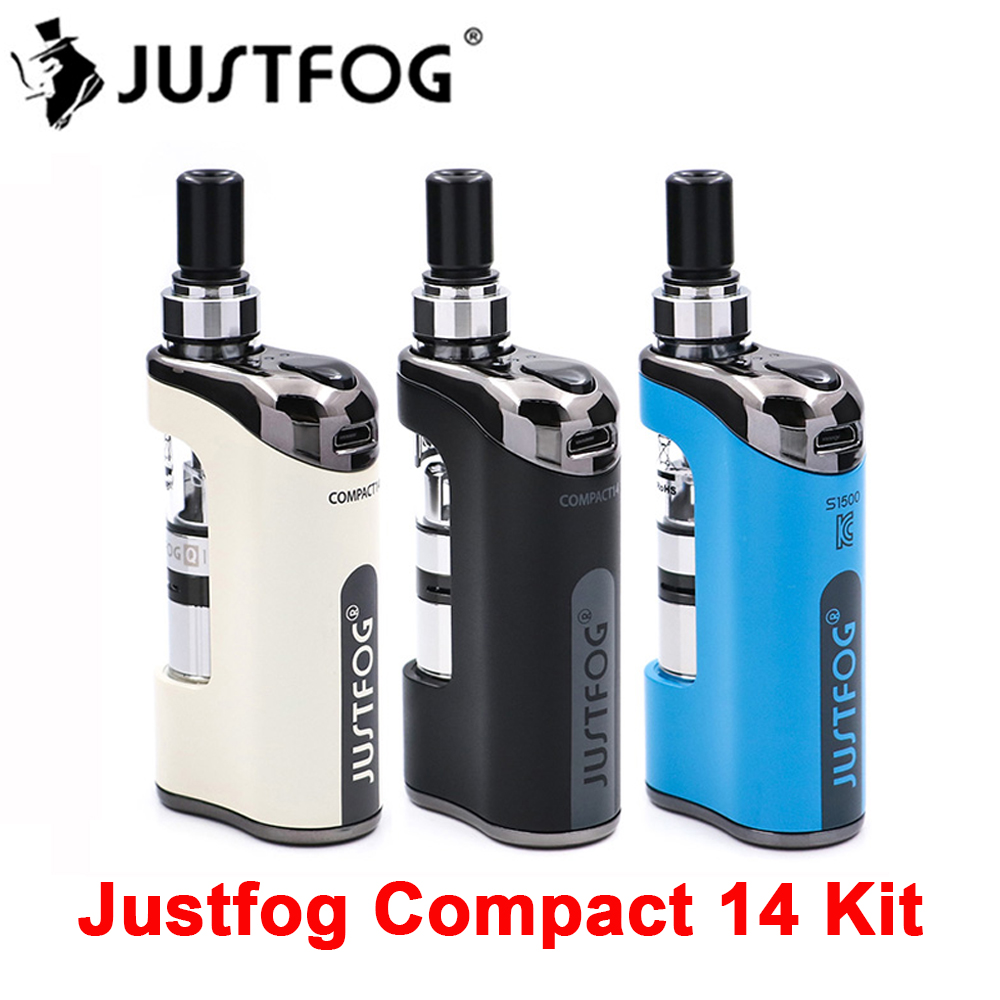 2pcs lot E Cigarette JustFog Compact 14 Kit 1500mah built in battery with 1 8ml Clearomizer
