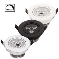 Luz descendente LED regulable, 3W, 4W, 5W, punto LED AC110V, 220V, arena, plata, Blanco, Negro, casa, luz diurna Natural, blanco puro cálido