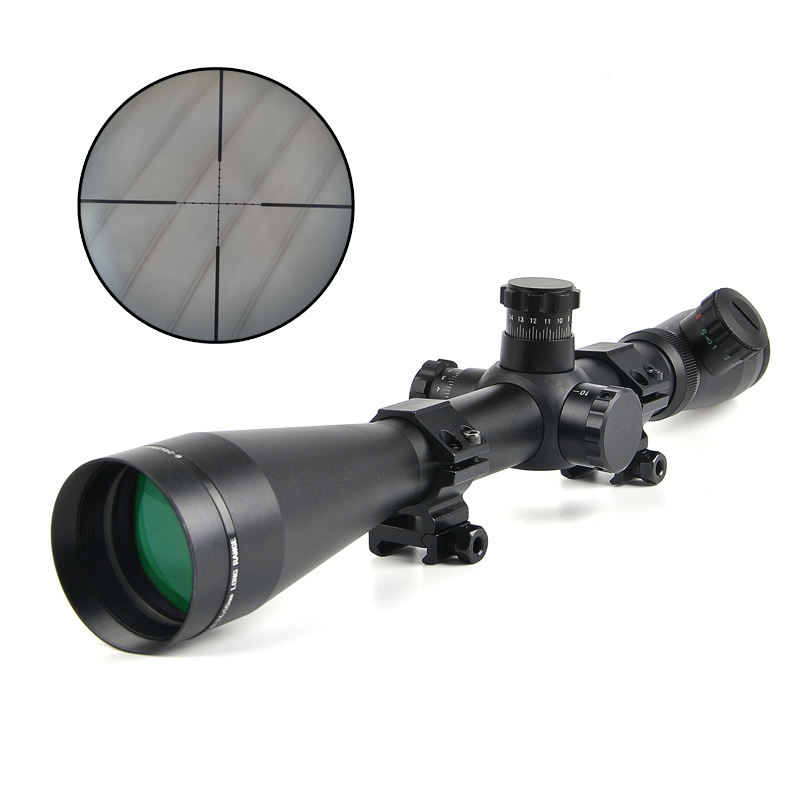 LEUPOLD 6-24x50 M1 Hunting Scopes Optics Rifle Scope Red and Green Dot Fiber Reticle Sight Tactical 11mm / 20mm Rail Riflescope 3 10x42 red laser m9b tactical rifle scope red green mil dot reticle with side mounted red laser guaranteed 100%
