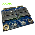 Бесплатная доставка 2 SSD HDD для Ноутбуков Dual Micro SD SDHC SDXC для Мини PCIe Карты Памяти reader mPCIe до 2 мини-sdcards адаптер
