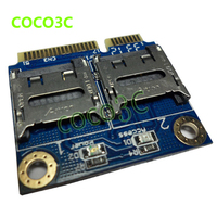 Free Shipping 2 SSD HDD For Laptop Dual Micro SD SDHC SDXC To Mini PCIe Memory
