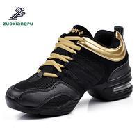 Танцевальная обувь больших размеров 34-42 женские дышащие кроссовки на мягкой подошве женские туфли для репетиций современные танцевальные ...