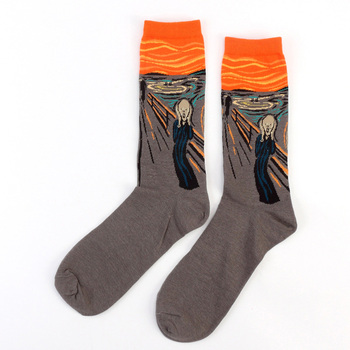 Unisex Κάλτσες Τέχνης με Διάσημες Προσωπικότητες Μοντέρνες Κάλτσες με Διάσημους Πίνακες vintage unisex Κάλτσες Βαν Γκονγκ