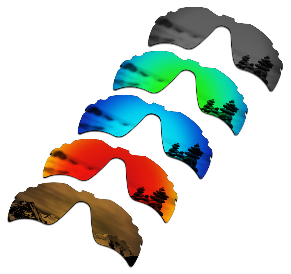 SmartVLT 5 Pieces Polarized Sunglasses Replacement Lenses for Oakley Radar Path Vented 5 Colors