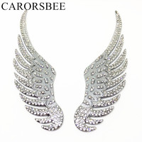 CARORSBEE 1 Pair Fashion 3D Metal Set Auger Angel Eagle Wings Stickers Motorcycle Automobiles Rear Side