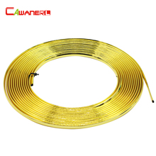 Cawanerl Car Golden Chrome Trim Automotive Door Bumper Grille Air Conditioner Outlet Vent Decoration Strip Sticker Car Styling