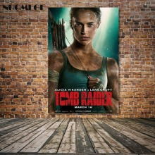 цена на NUOMEGE Tomb Raider Lara Croft Movie Art Posters Print 12x18 24x36 Inches On Silk Frabic Wall Picture For Living Room Home Decor