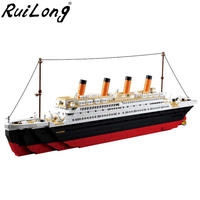 New 1860pcs Diamond Titanic RMS ship 3D blocks Compatible With LegoINGLY Titanic Toys Kids Birthday Gifts Building Bricks Blocks