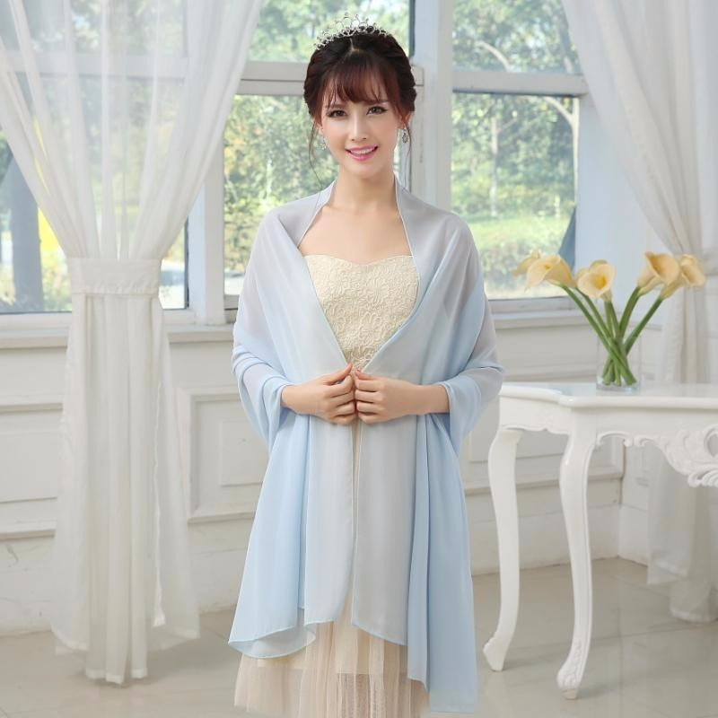 Formal Women Evening Scalf 200cm*75cm Woman Wedding Wraps Bolero Chiffon Jacket Shrug For Bridal Party