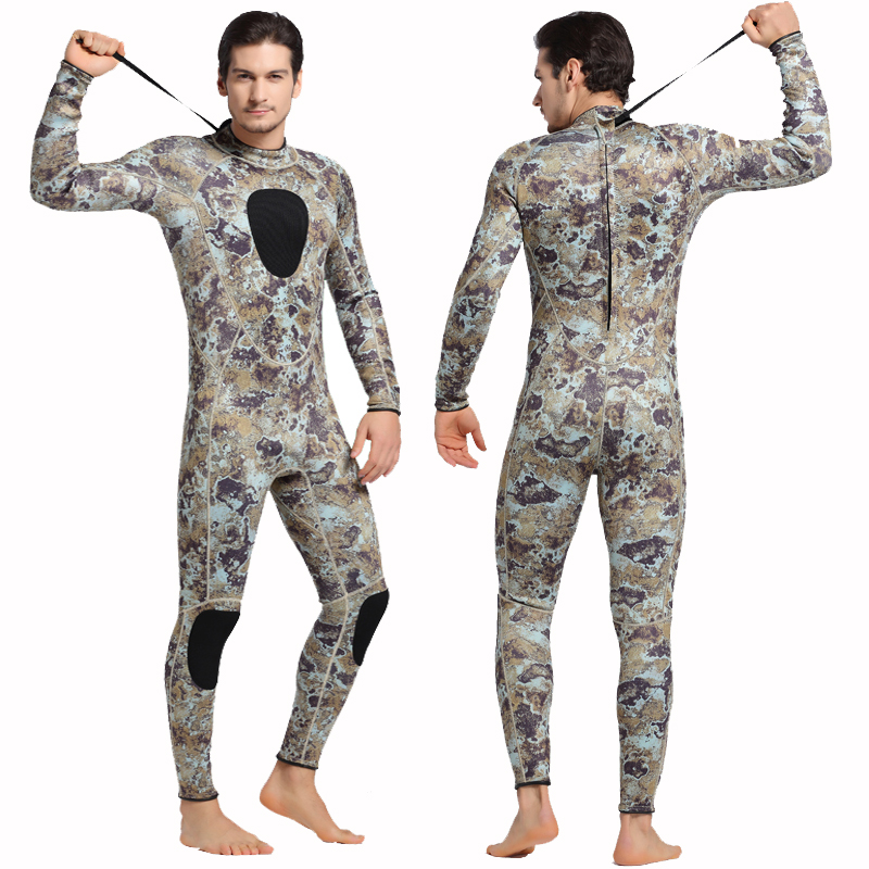 SBART Neoprene Wetsuit 3MM Winter Warm Camouflage One-Piece Suit Swimwear For Scuba Diving Spear Fishing Snorkeling Wet Suit I spearfishing wetsuit 3mm neoprene scuba diving suit snorkeling suit triathlon waterproof keep warm anti uv fishing surf wetsuits