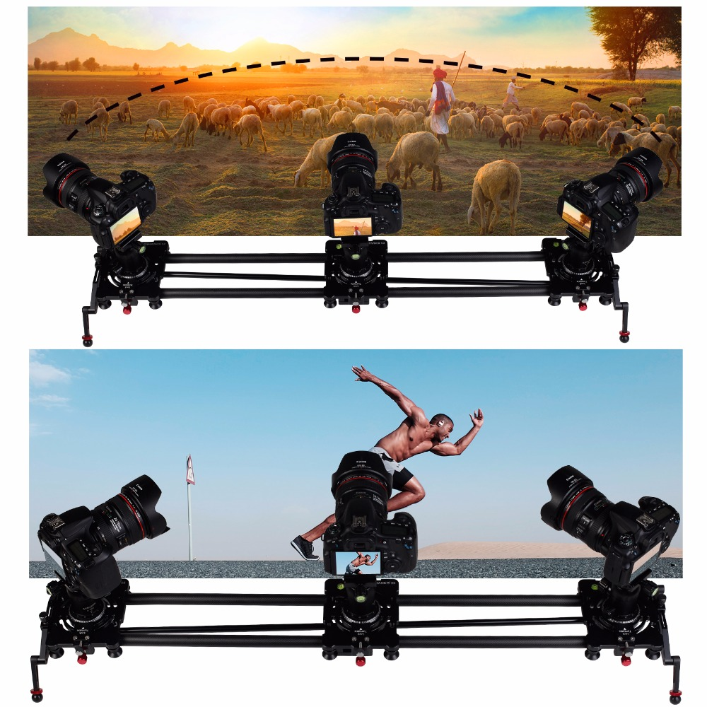 S2 Camera Dolly Track Rail Slider Carbon Follow Focus for Profissional Photography Studio DV DSLR Interview Vlog Youtube Video