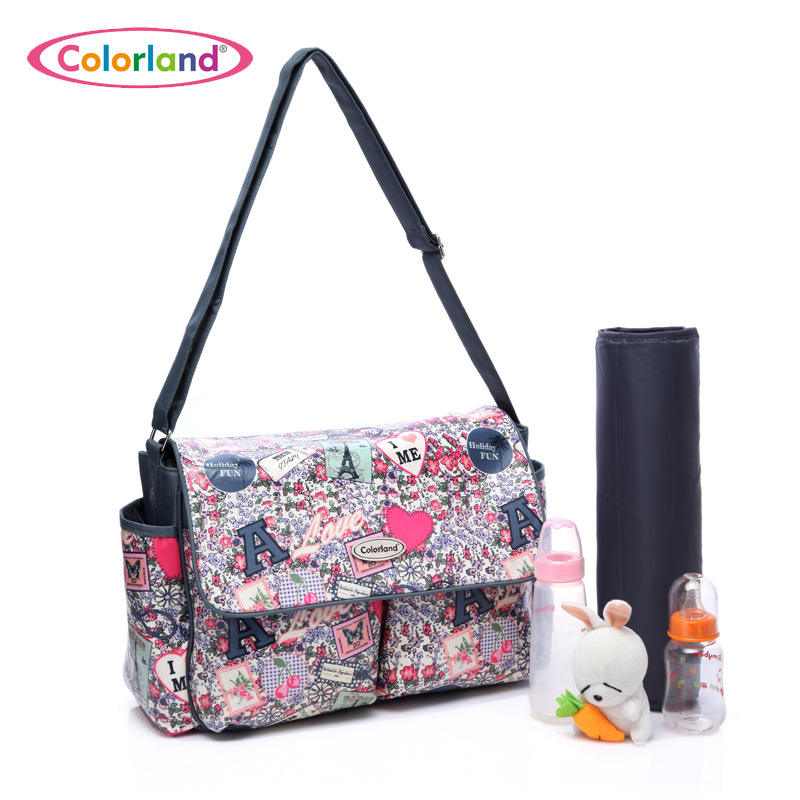 COLORLAND Designer Baby Diaper Bags For Mom Large Capacity Nappy Maternity Bag Baby Care Bag Handbags For Moms