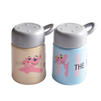 Pink Panther Stainless Steel Drinkware Water Bottle Female Girl Water Caneca Korean Style Cartoon Anime Coffee