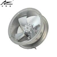 304 нержавеющая сталь Вентилятор 370 Вт высокая температура сопротивляться циркуляции вентилятор осевой стенки Воздуховода Вентилятор 220 В