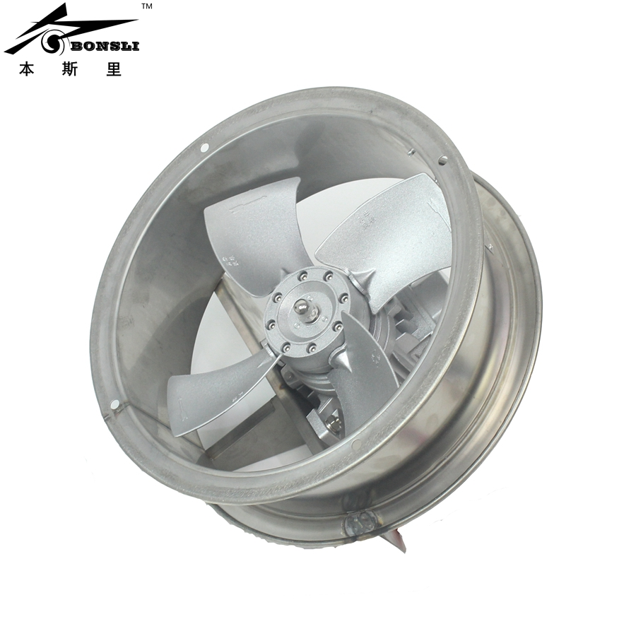 304 stainless steel fan 370w high temperature resist circulation fan axial flow wall duct fan 220v