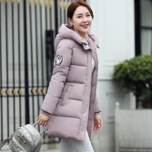 2016 New Arrival Fashion Long sleeve Hooded Jackets Winter Women's Fashion Down Warm Coats Slim Style Casual Parka Coat 680E 25