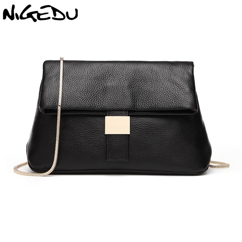 NIGEDU Brand Women Messenger Bags small Chain Cross-body Handbags high quality PU Leather Women's Handbag Lady Shoulder bag twenty four women brand flap bags natural genuine leather handbags with chain solid color cover small bags young cross body bags