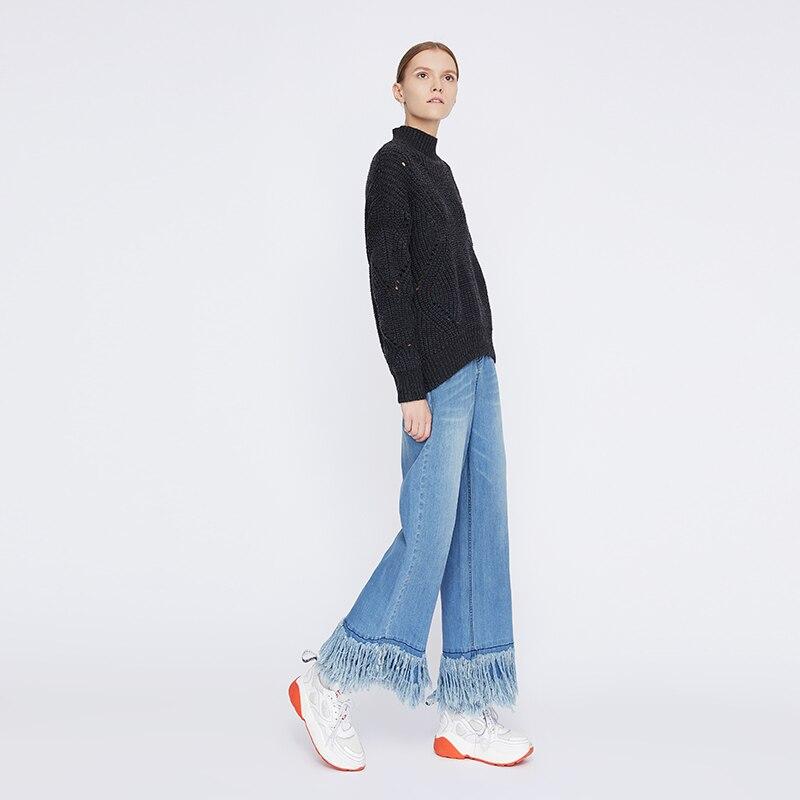 Toyouth ผู้หญิงกางเกงยีนส์ Denim กางเกงขากว้าง Plus ขนาดกางเกงยีนส์สบายๆกางเกงหญิงสีฟ้ากางเกงยีนส์ผู้หญิง Vaqueros Mujer-ใน ยีนส์ จาก เสื้อผ้าสตรี บน   2