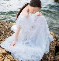 Summer 2015 Elegant Chiffon Beach Dress Women Sexy Off Shoulder Pleated White Maxi Dresses Long