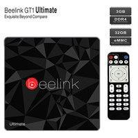 Android 7.1 Bluetooth 4.0 beelink gt1 Ultimate Amlogic S912 Восьмиядерный Процессор Декодер каналов кабельного телевидения двухдиапазонный Wi-Fi 1000 м HDMI 3 ГБ + 32 ГБ ТВ ко...